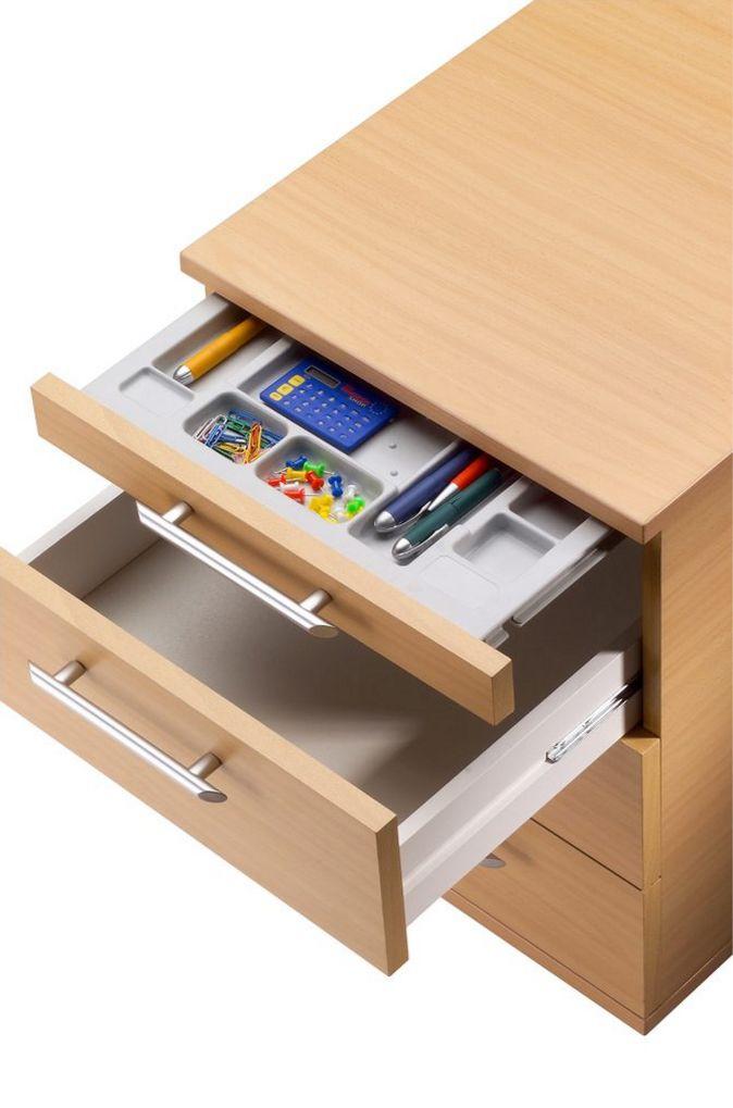 Schreibtisch-Rollcontainer Buche