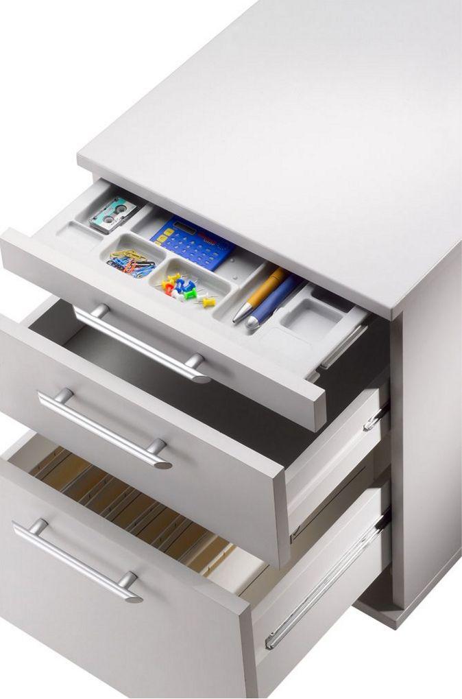 Hängeregister-Schreibtisch-Rollcontainer blau