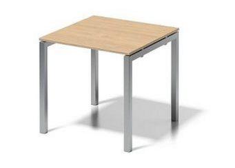 Stahlgestell-Schreibtisch-Ansatztisch 80 x 80 cm