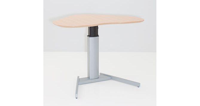 kabellos elektrisch höhenverstellbarer Sitz- u. Steharbeitstisch