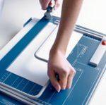 Papierschneidemaschine Bügelpressung