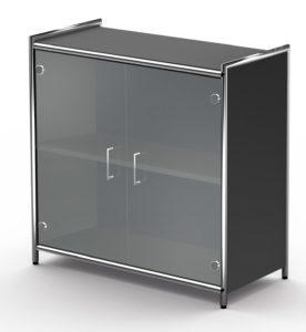 kleiner Büroschrank mit Glastüren
