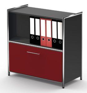Büro-Sideboard mit Schubladenfach offenes Regalfach