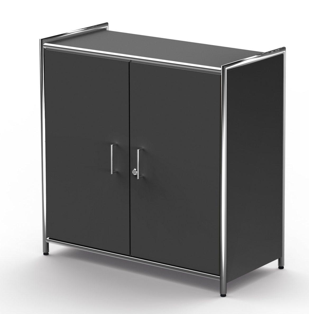Büroschrank Breite x Höhe = 80 x 78 cm mit abschließbaren Drehflügeltüren