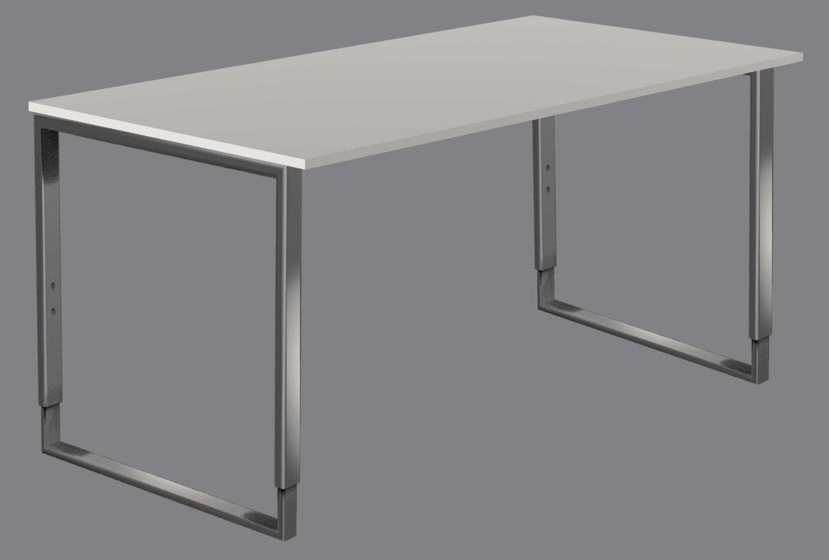 höhenverstellbarer Bügelgestell- Schreibtisch 160 x 80 cm