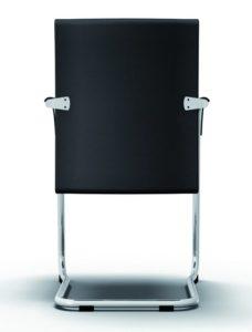 Freischwingerstuhl mit gepolsterter Rückenlehne