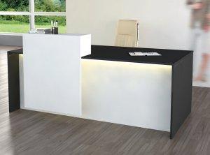 moderner und preiswerter Kundenberatertisch mit LED-Beleuchtung
