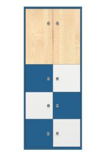 Schließfach-Metallschrank Höhe = 199 cm
