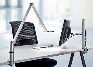 ed-Schreibtischlampe mit Monitor-Tischhalterung