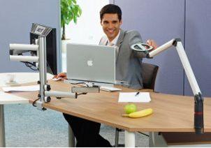 frei positionierbare blendfeie LED-Schreibtischlampe