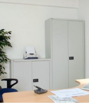 günstige Stahl-Büroschrank abschließbar Stahlböden
