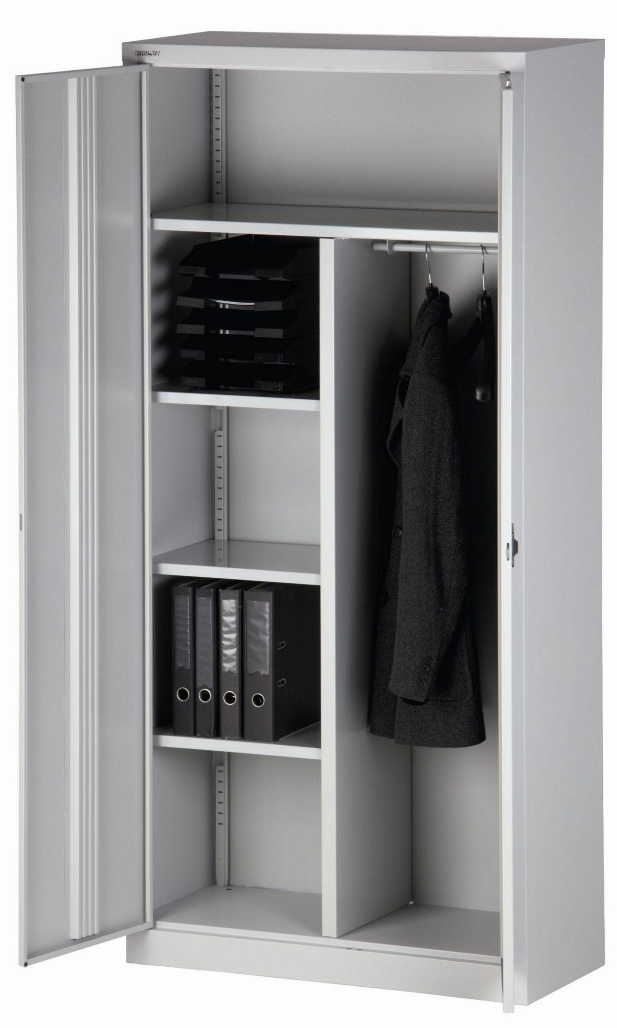 abschließbarer Büro-Garderobenschrank aus Stahl