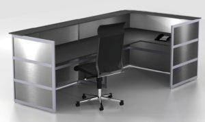 leicht transportierbarer Info-Desk