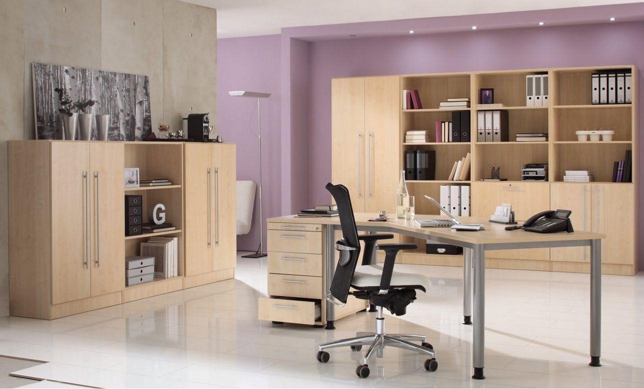 preiswerte Büromöbel Ahorn-Holz