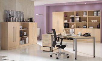 Ahorn-Holzdekor Büromöbel