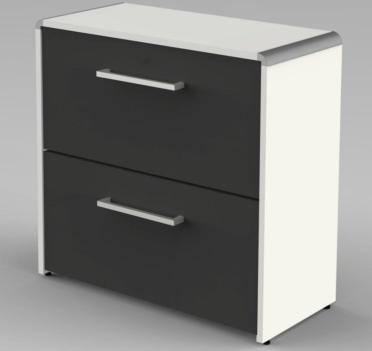 kleiner Büro-Aktenschrank mit 2 Schubladen