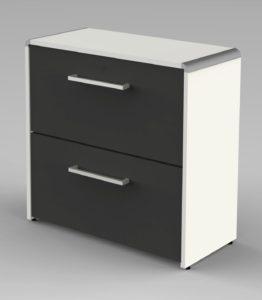 kleiner Büro-Aktenschrank mit 2 Hängeregister-Schubladen