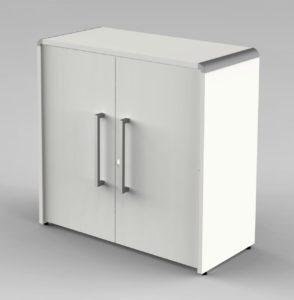 kleiner weißer Büroschrank  80 x 80 cm abschließbar