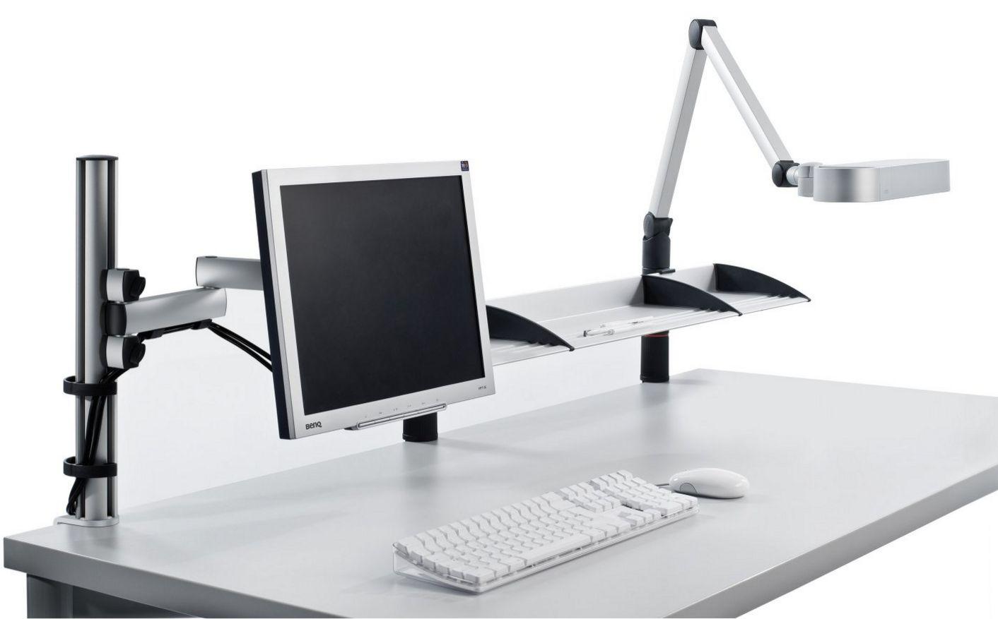 Monitor-Schreibtischlampe-Telefon-Schwenkarm-Tischbefestigung