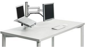 Monitor-Notebook-Halterung zur stabilen Tischbefestigung