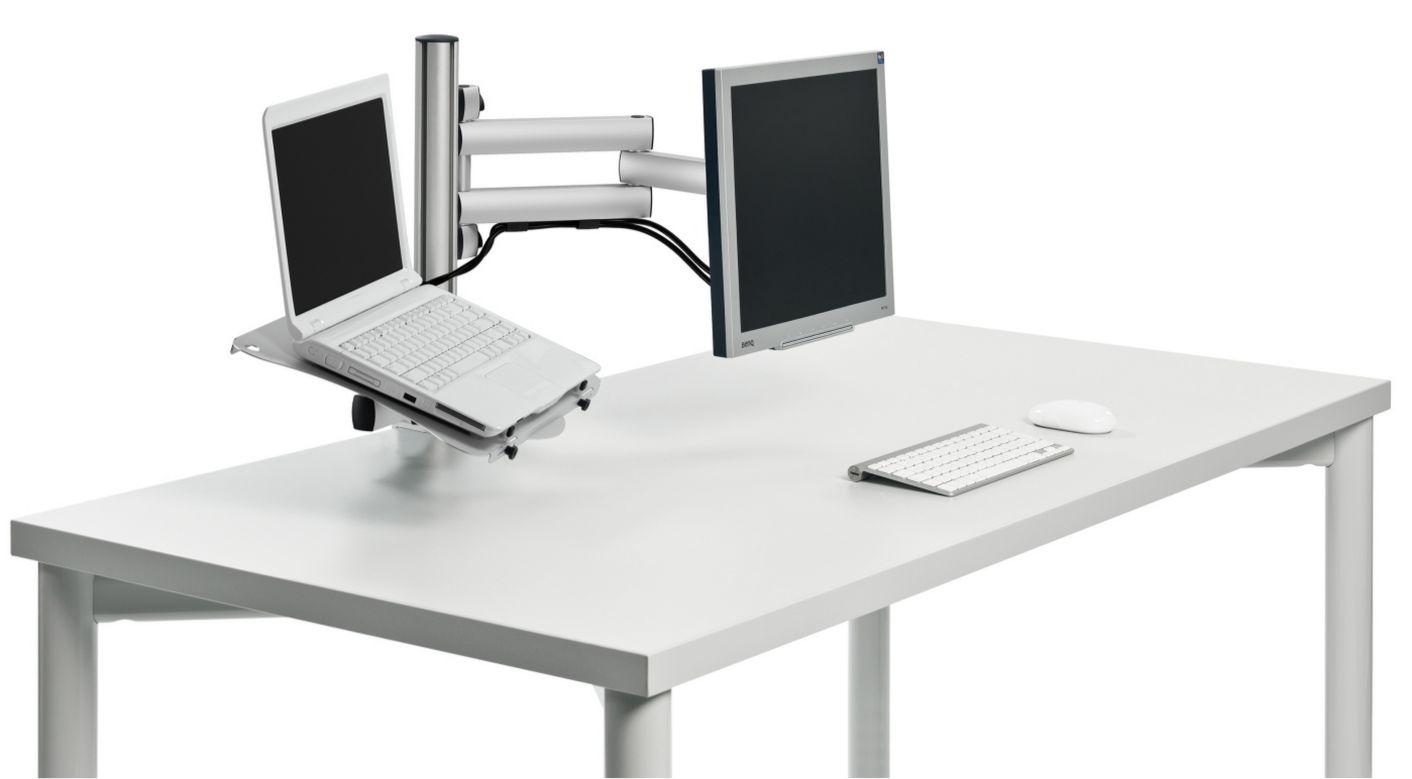 Tischhalterung für Monitor und Notebook border=