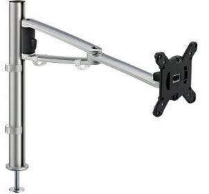 Monitor-Schreibtischhalterung Montage an Kabeldurchlassdose