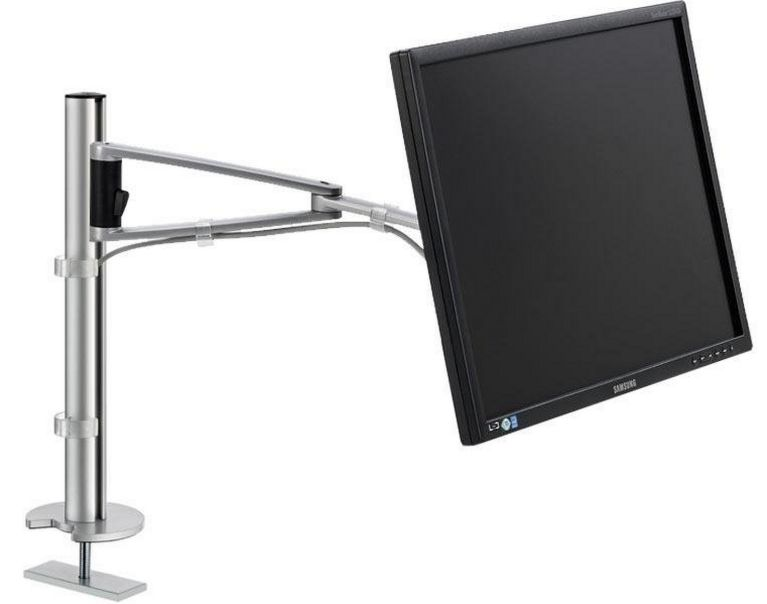 Monitor-Schreibtischhalterung Tischbefestigung an Kabeldurchlassdose