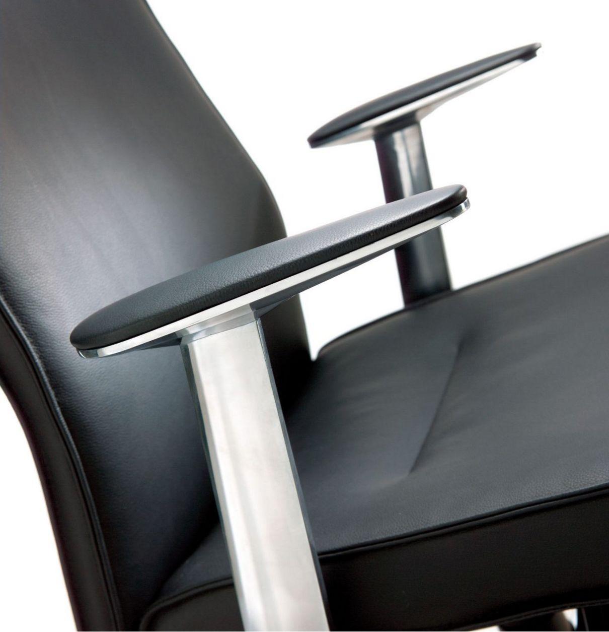 Chefsessel Stuhlbezug Echt-Leder schwarz