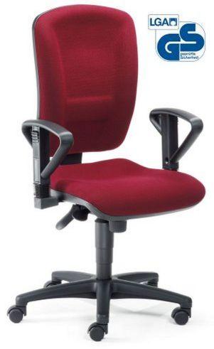 rückenschonender Schreibtischstuhl roter Polstersitz