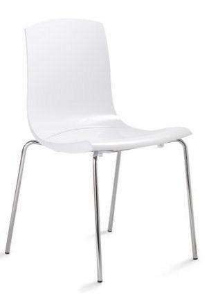 schwarzer Hartschalen-Stuhl robust und bequem
