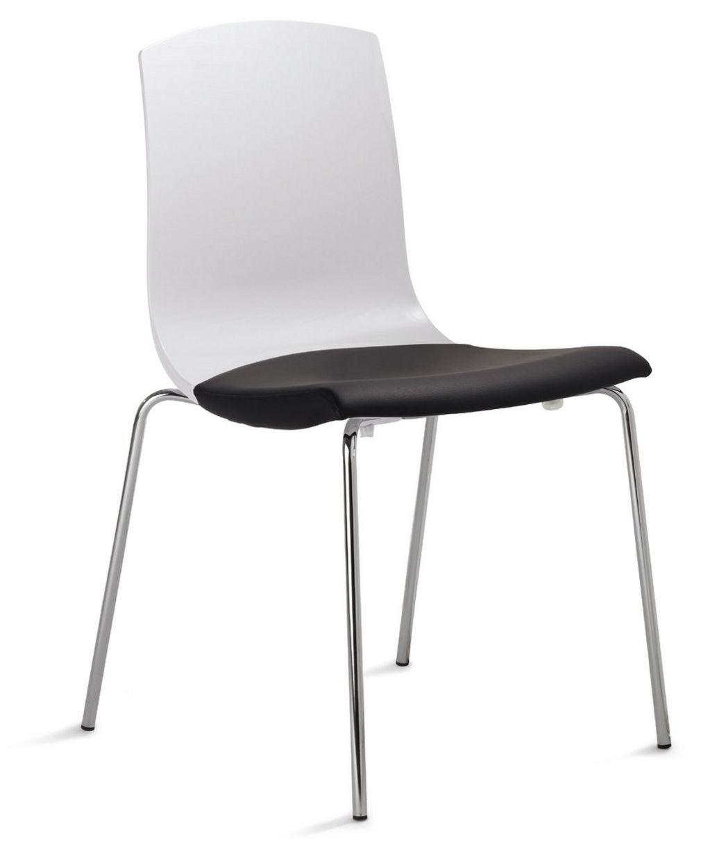 objekttauglicher Veranstaltungsstuhl mit Hartschalen-Plastiksitz