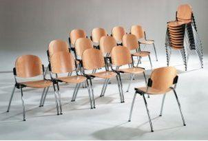 Konferenzraumstuhl stapelbar objekttauglich