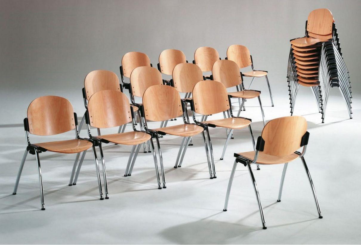 platzsparend stapelbarer Konferenzraumstuhl