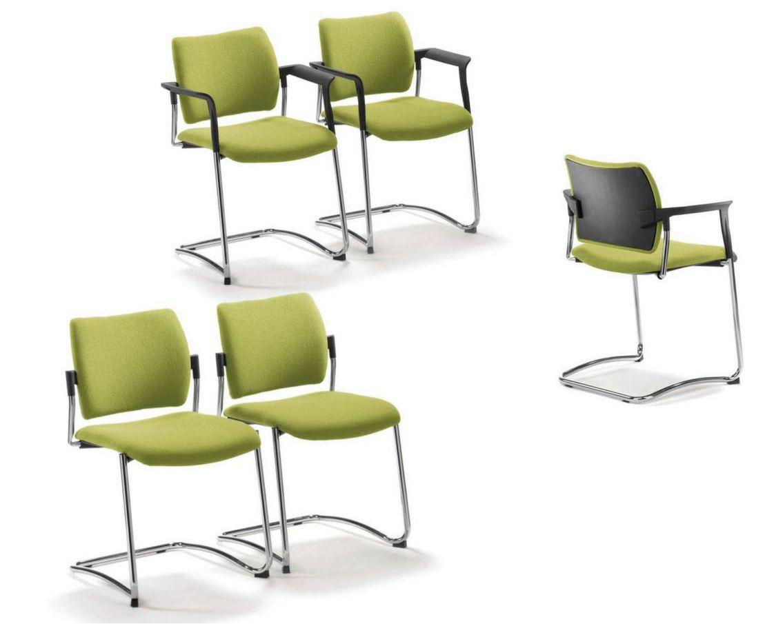 Freischwinger-Veranstaltungsstuhl mit Reihenverbinder