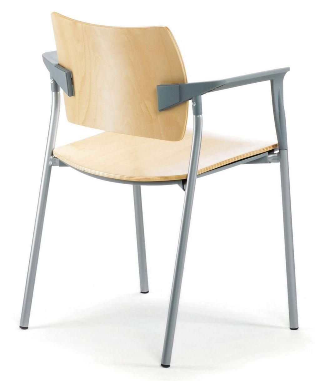 stapelbarer Stuhl mit Reihenverbinder für Veranstaltungen