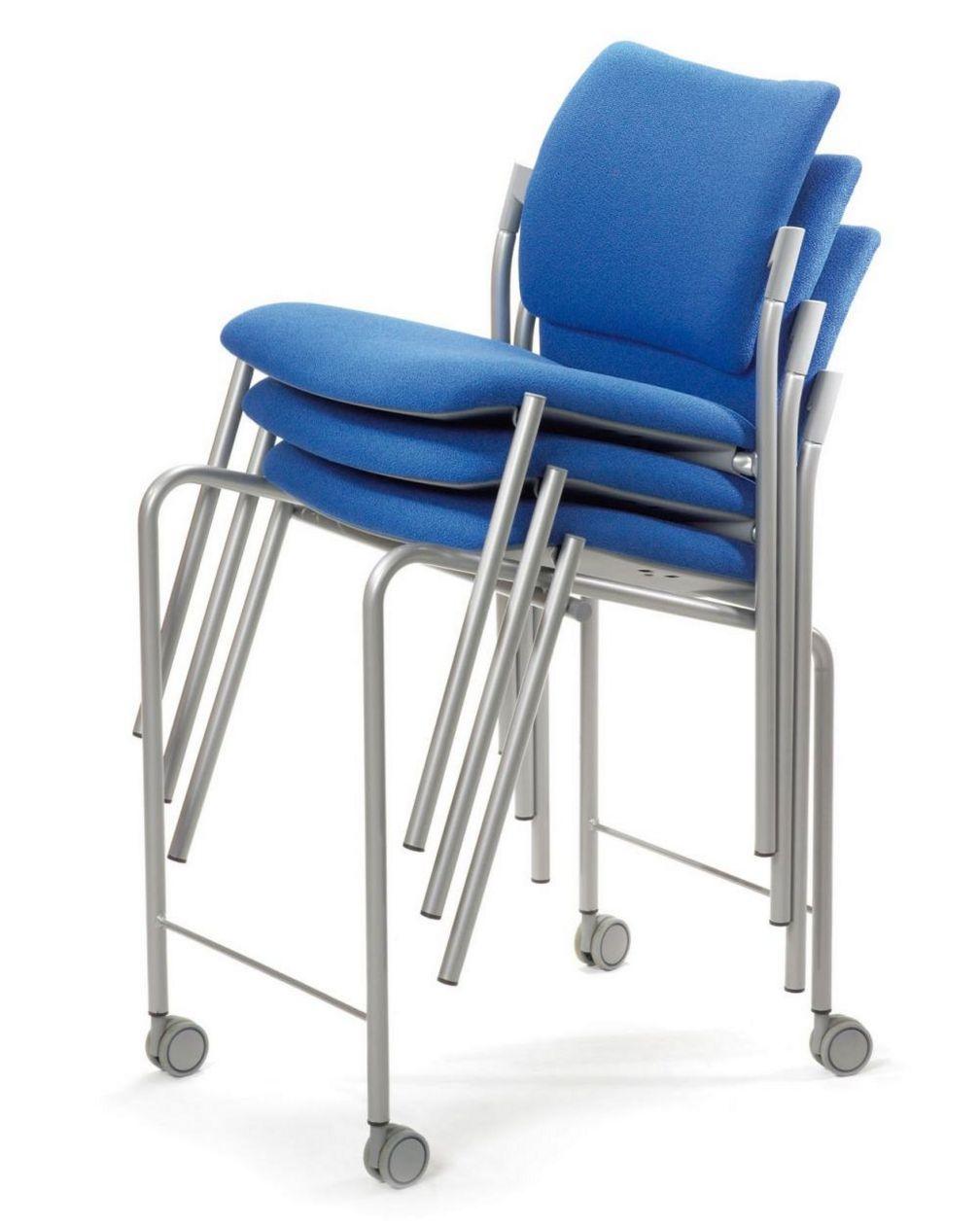 stapelbarer Veranstaltungsstuhl mit Stuhl-Transportwagen