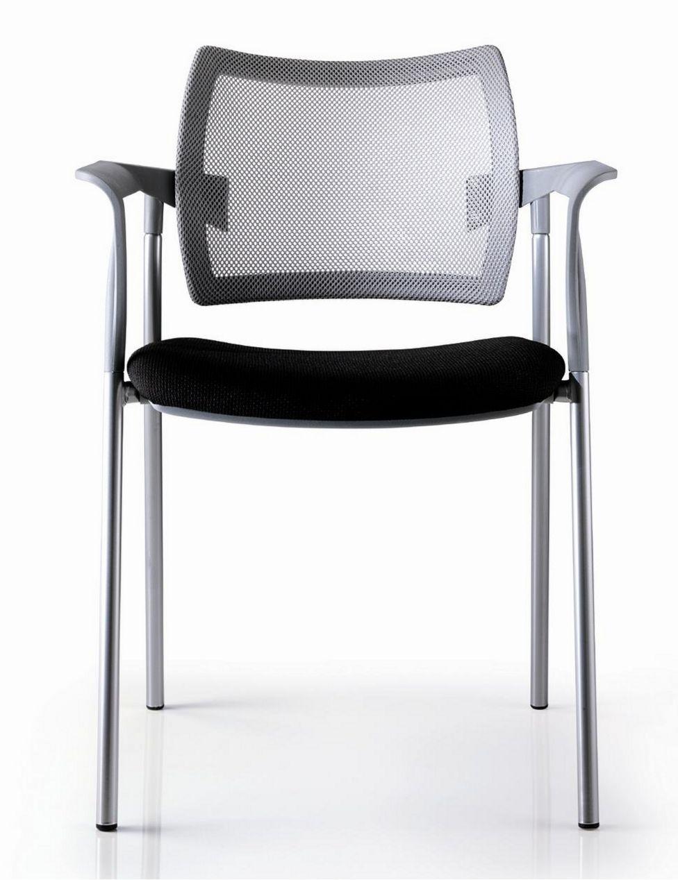 stapelbarer Stuhl für den Konferenzraum Rückenlehne mit Netzbezug