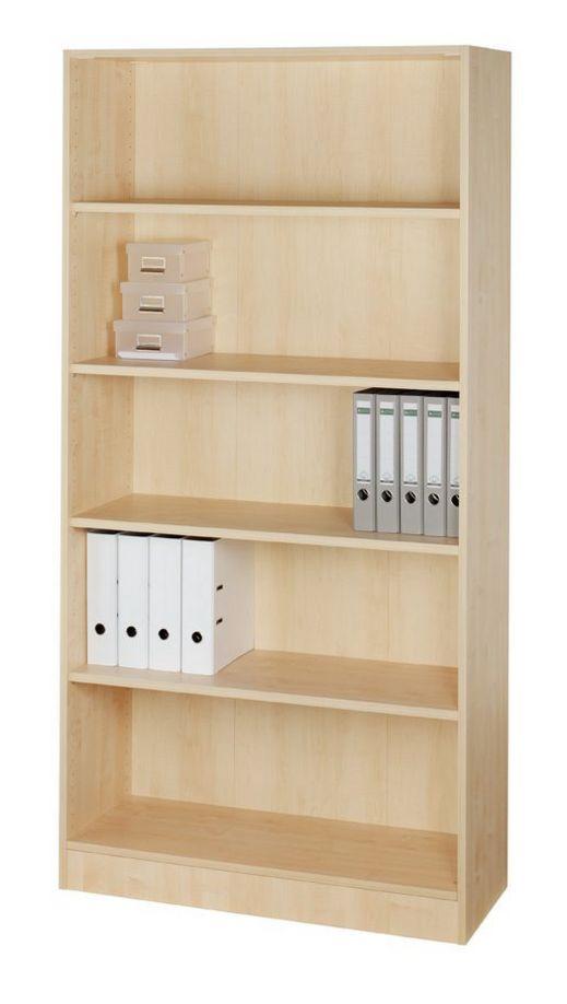 offener Büro-Aktenschrank Ahorn-Holzdekor