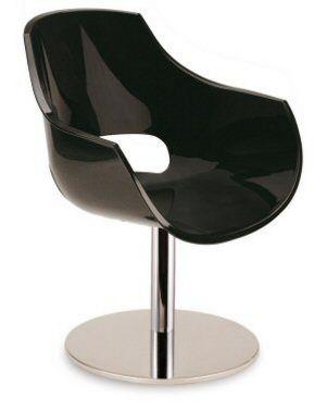 drehbarer Konferenzstuhl mit bequemer Sitzschale