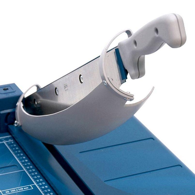 sichere Papierschneidemaschine mit Messerschutz