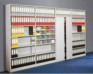 Büro-Metall-Steckregal Stahl-Fachböden