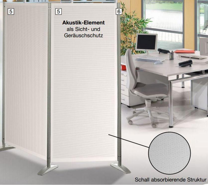 schallabsorbierende Stellwand mobiler Raumteiler