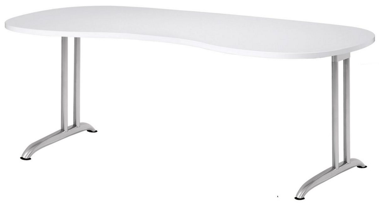 Schreibtisch nierenförmig 200x100 cm