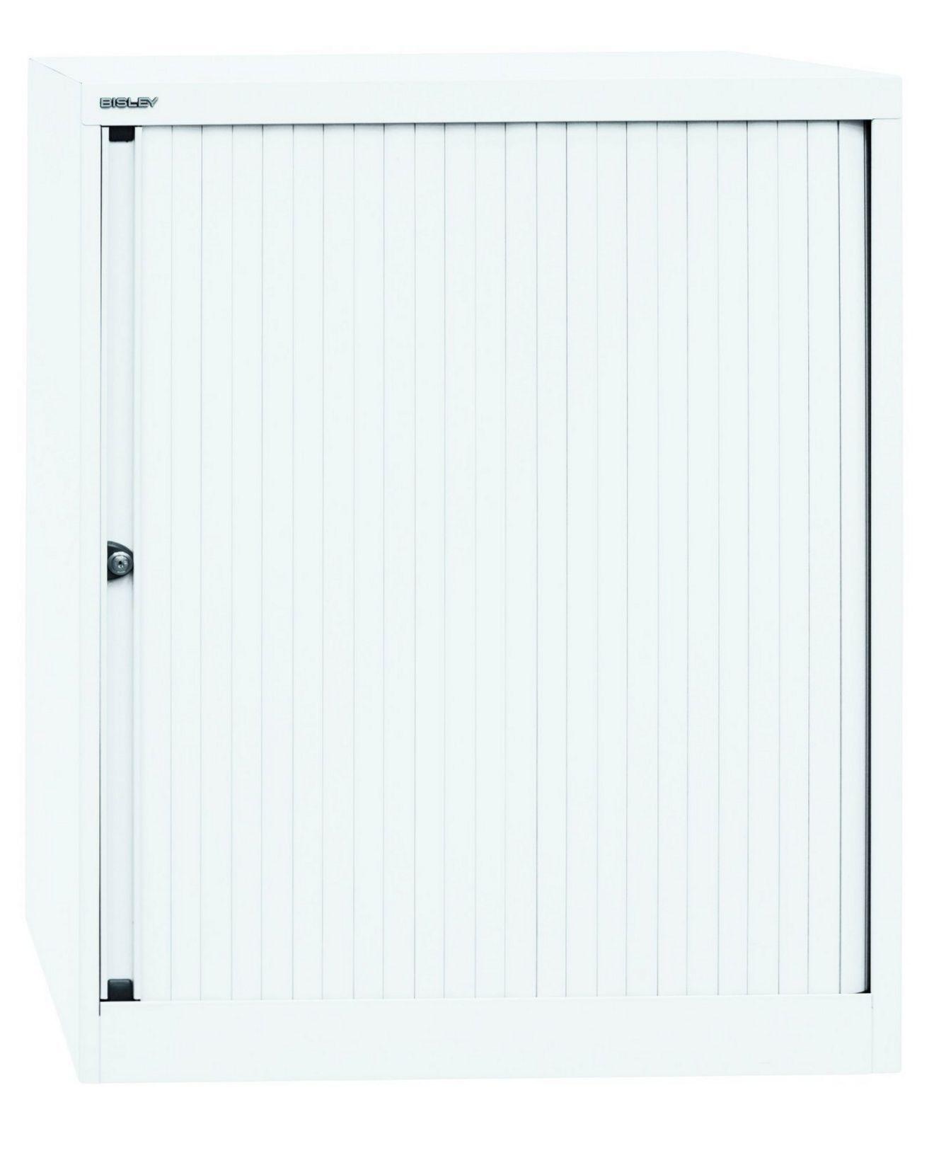 weißer Büro-Metallschrank abschließbare Rollläde sofort lieferbar