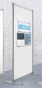 Sichtschutzwand und Raumteiler mit magnetischer Metallwand