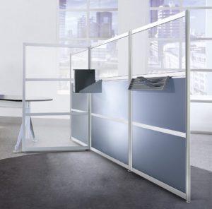 beliebig erweiterbarer Büro-Raumteiler