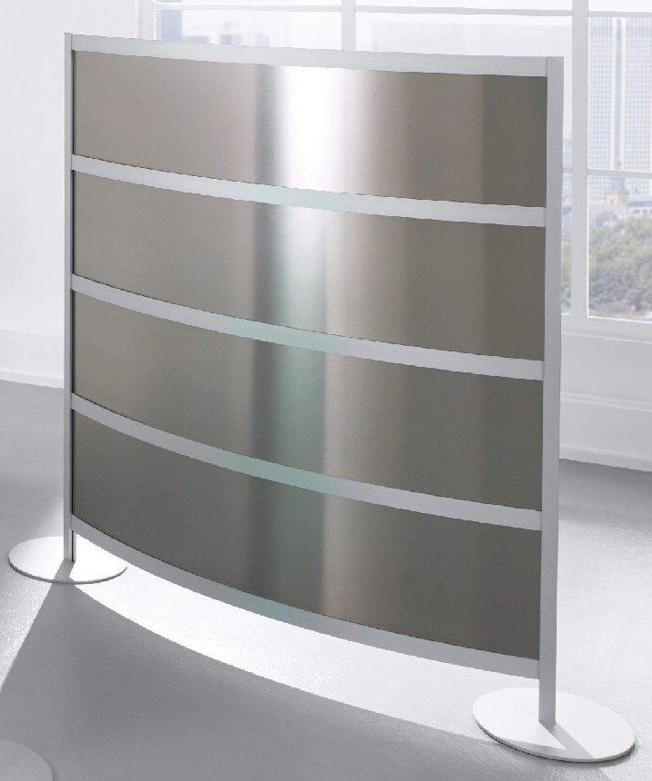 gebogene Sichtschutzwand Kunstglas anthrazit