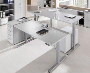 Schreibtisch-Steharbeitstisch programmierbare Tischhöhe 62-127 cm