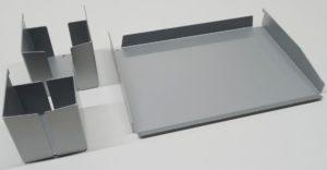 Ablageset mit Stiftbecher, Zettelbox und Dokumenten-Ablagefach zur Schreibtischmontage