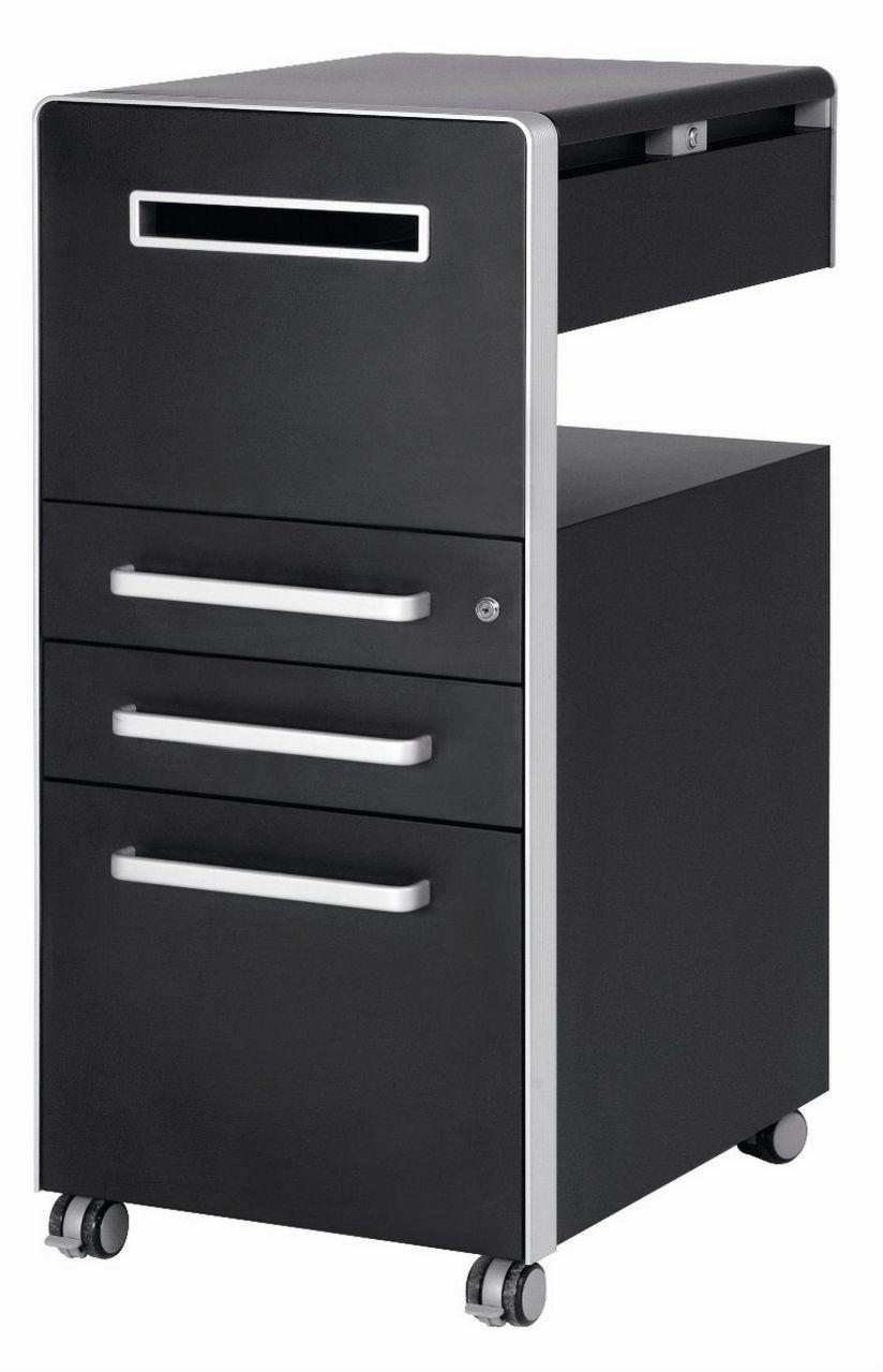 Schreibtisch-Anstellstahlcontainer abschließbar Postfach